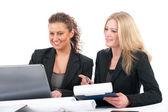 商业妇女在办公室 — 图库照片