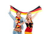Sexy soccer fan — Stock Photo