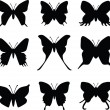 Butterfly silhouette vector - Stock Vector