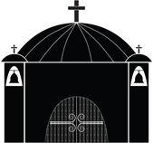 Church silhouette vector — Stock Vector