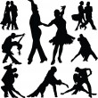 Dance silhouette vector — Stockvektor