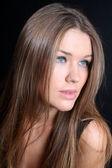 Cute girl with long hair — Stock Photo