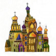 Russian church on white background — Stock Photo