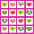Stock Photo: Batik valentin hearts background