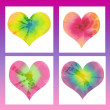 Stock Photo: Batik valentin hearts card