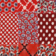 Stock Photo: Red quilt pattern