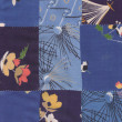 Stock Photo: Blue quilt pattern