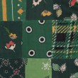 Stock Photo: Green quilt pattern
