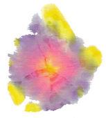 Violet batik circle on white background — Stock Photo