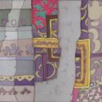 Silk batik textile vintage — Stock Photo
