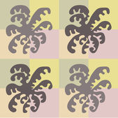 Abstract orchid pattern — Stock Vector