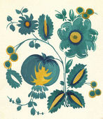 Water-colour russian flower pattern — Stock Photo