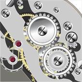 Inside clock — Stock Vector