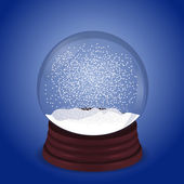 Magic snow globe — Stock Vector