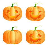 Whitefunny pumpkins — Stock Vector