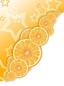 Hvězda oranžová — Stock fotografie