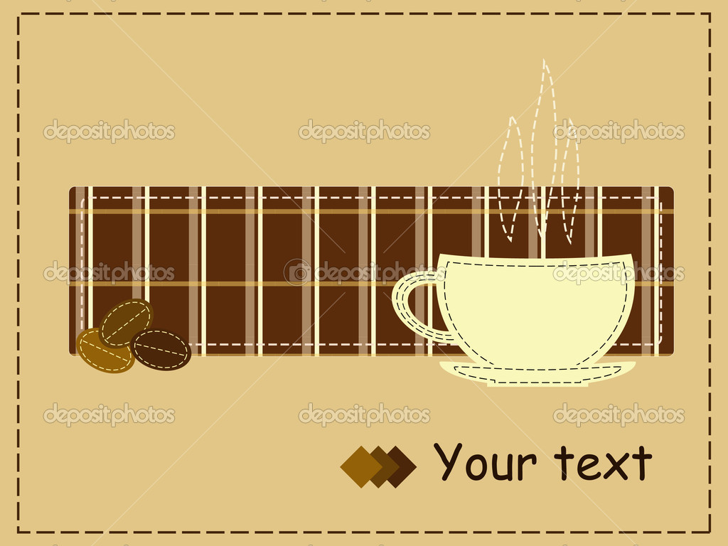 Coffee style patchwork for invitation — Stock Vector #2256413
