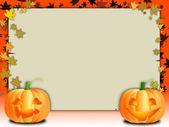 Pumpkins and invitation — Stock Photo