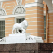 White lion sculpture - Stock Photo
