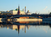 Russia moscow kremlin river bridge — Stock Photo
