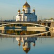 Russia moscow temple christ rescuer,the Cathedral of the Redeemer — Stock Photo #2193101