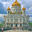 Russia moscow temple christ rescuer,the Cathedral of the Redeemer — Stock Photo #2193147