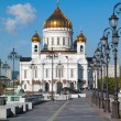 Russia moscow temple christ rescuer,the Cathedral of the Redeemer — Stock Photo #2193170