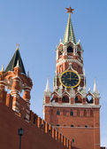 Russia moscow kremlin,Spasskaya / Saviour Tower — Stock Photo