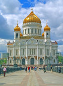 Russia moscow temple christ rescuer,the Cathedral of the Redeemer — Stock Photo