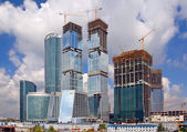 Construction of business center in Moscow — Stock Photo