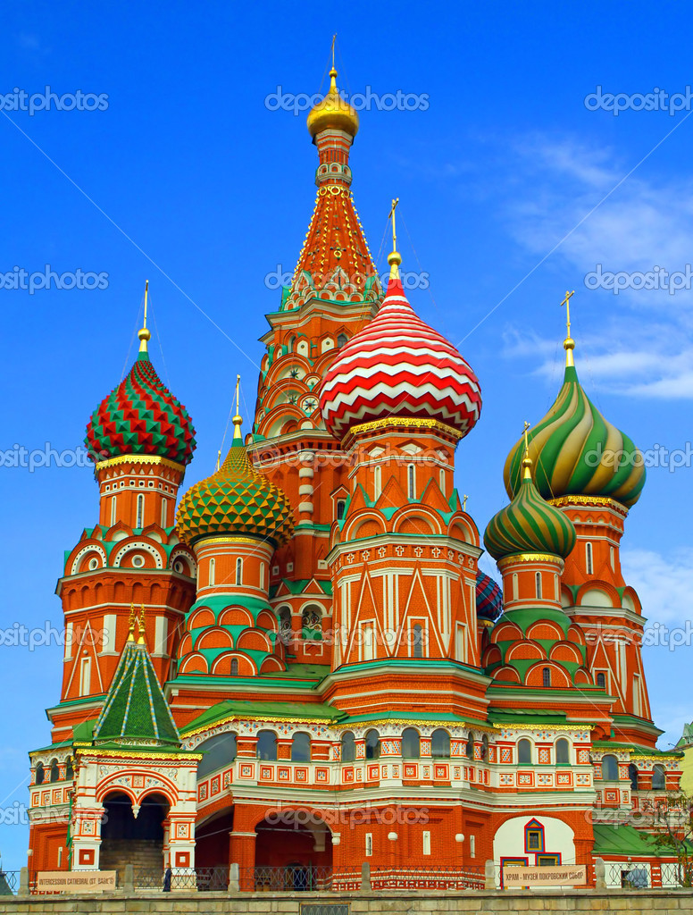 Russia moscow red square cover cathedral,the Cathedral of the Virgin Protectress,the Cathedral of St. Basil — Stock Photo #2193131