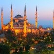 Sultan Ahmet Blue Mosque Dusk — Stock Photo