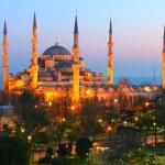 Sultan Ahmet Blue Mosque Dusk — Stock Photo