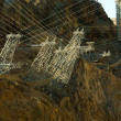 Royalty-Free Stock Photo: Hoover Dam Power Lines Grid