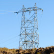 Stock Photo: Hoover Damb Power Lines Poll