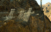 Hoover Dam Power Lines Grid — Stock Photo