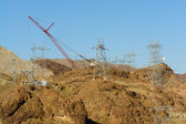 Hoover Damb Power Lines Construction — Stock Photo