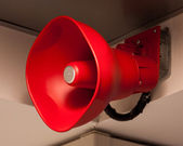 Red Fire Announcement Loud Speaker — Stock Photo