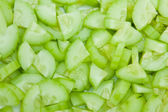 Cucumber Tiny Slices Background — Stock Photo