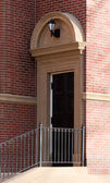 Side Entrance Steps To Brick House — Stock Photo