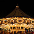 Amusement Park Carousel At Night — Stock Photo