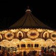 Stock Photo: Amusement Park Carousel At Night