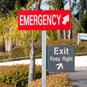 Emergency Exit Keep Right — Stock Photo
