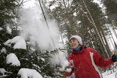 Ski walk — Stock Photo