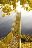 Little Bridge on the river — Stock Photo
