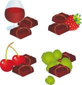 Chocolate vector — Stock Vector