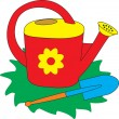 Watering Can vector — Stock Vector