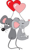 Mouses in love vector — Vetor de Stock