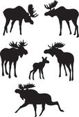 Elk vector — Stock Vector