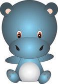 Hippo vector — Stock Vector